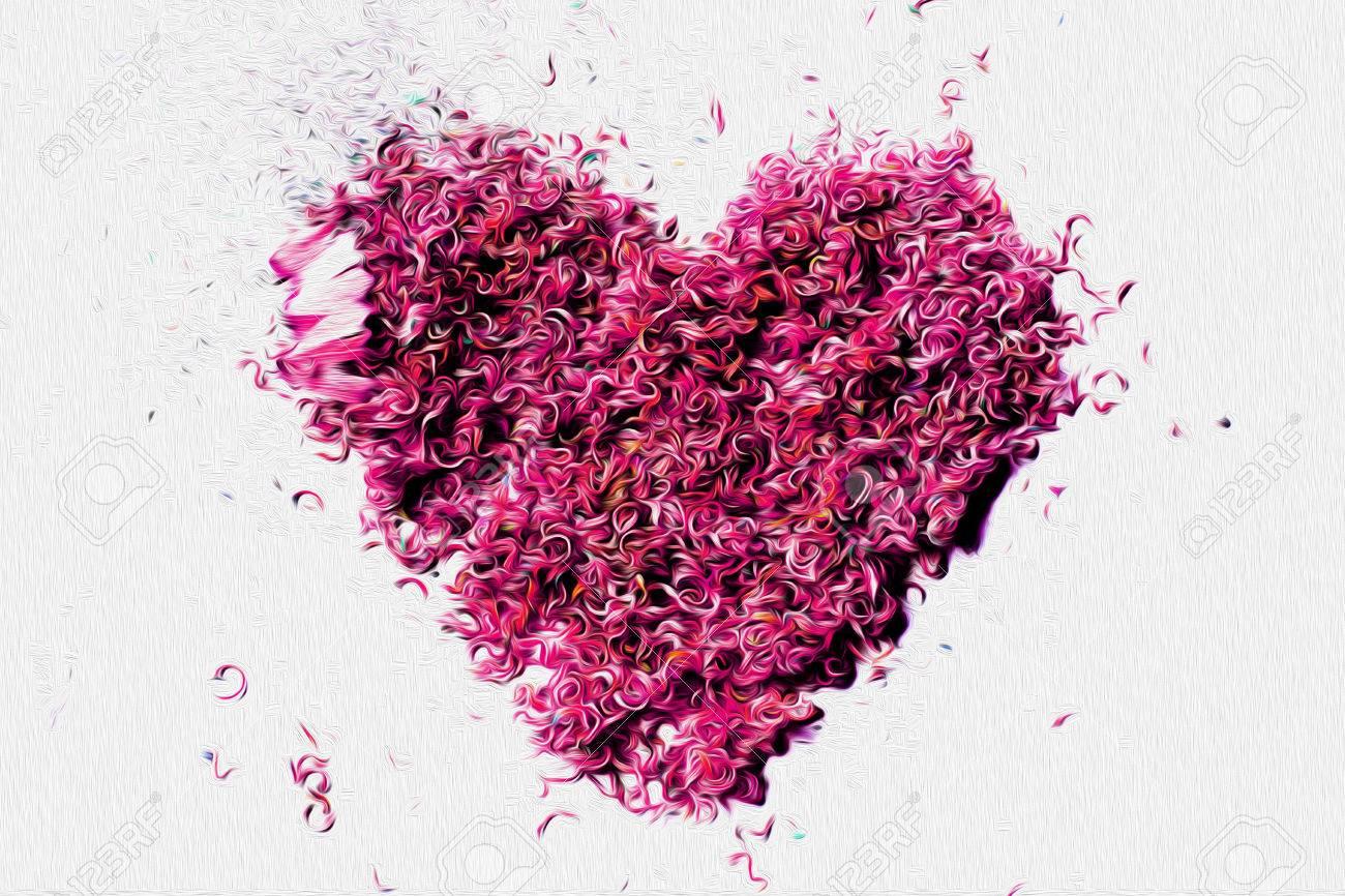 Immagini Stock Matite Penny è Art Design Di Un Cuore Rosa