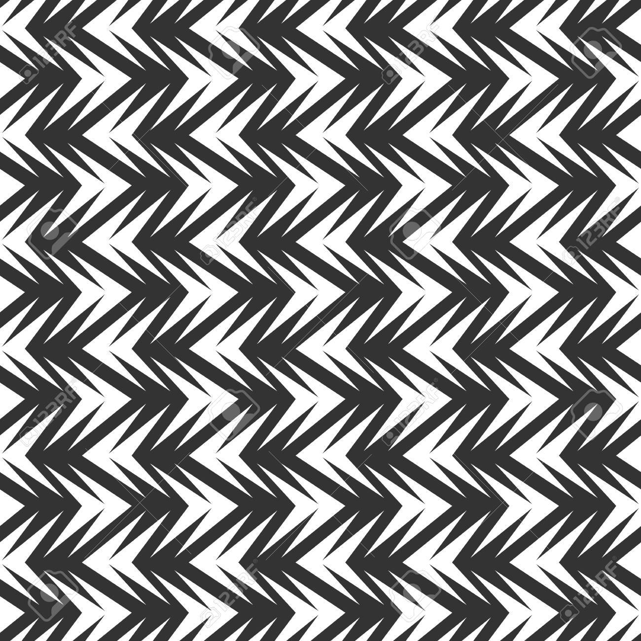 Seamless abstract chevron tile vector texture pattern in black and white background stock vector 60211372