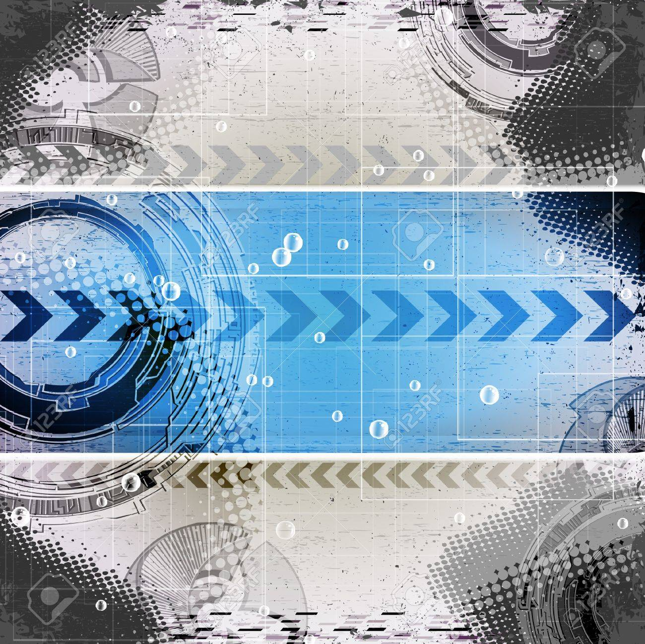 abstract blue grunge technology background with place for text Stock Vector - 9717906