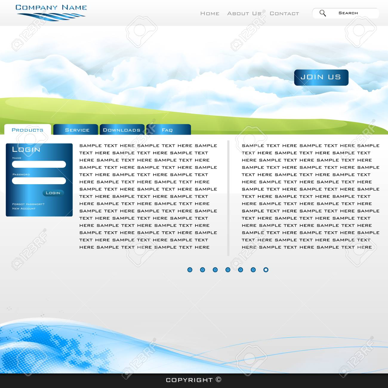 bluee website business template easy to edit