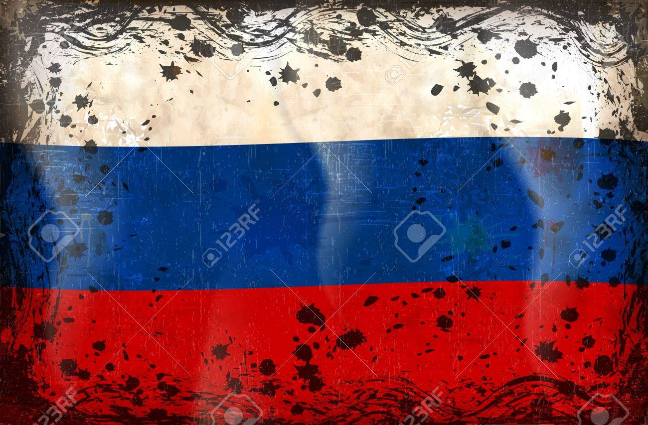 Flag of Russia, white blue and red color of Russia flag. Stock Vector - 12023325
