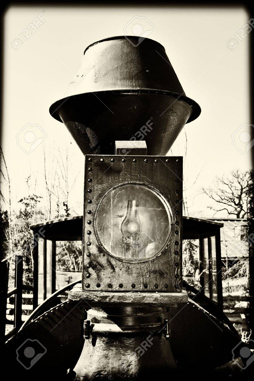 Detail of Vintage train converted to black and white Stock Photo - 13274276