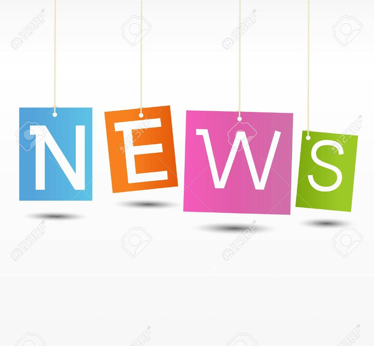 Education News Newspaper With White Background Template Royalty