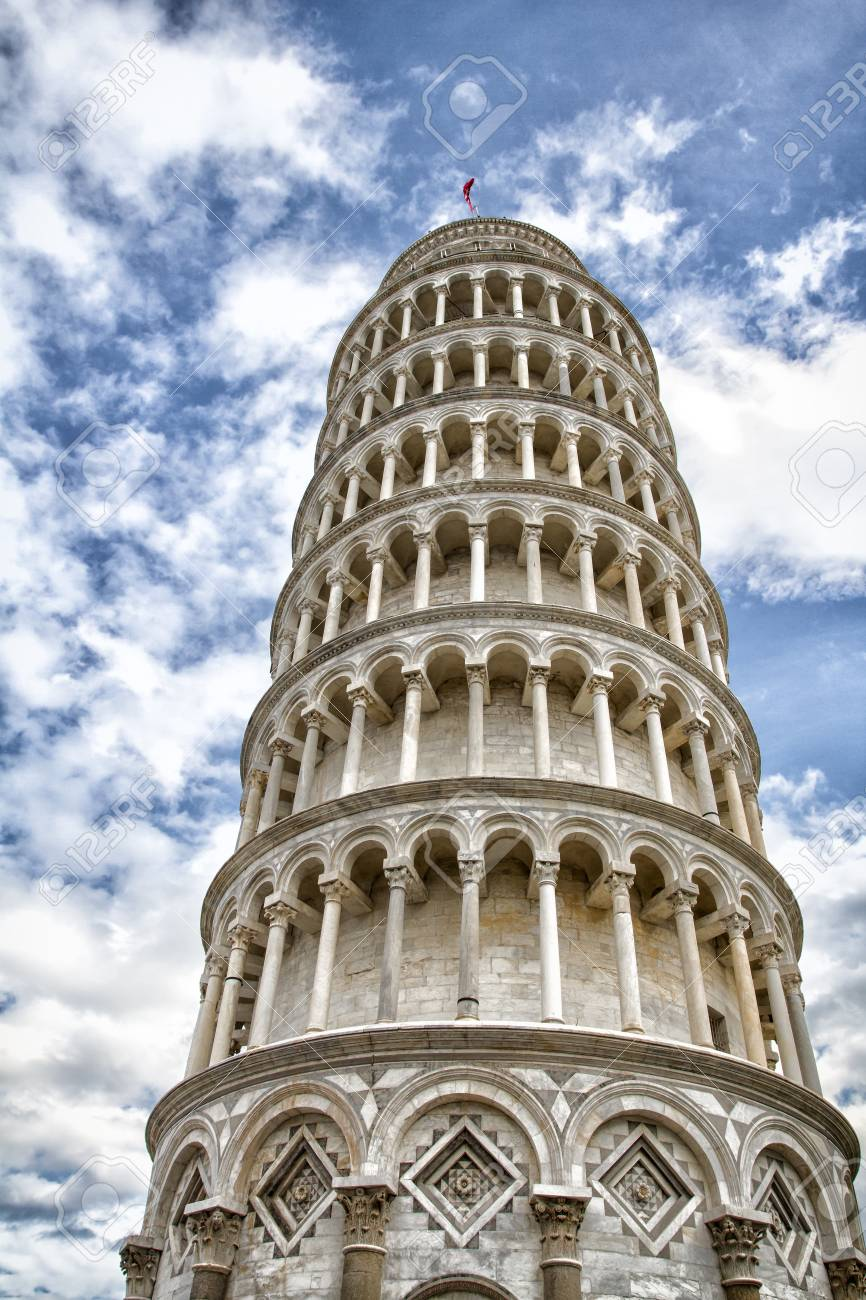 Pisa, Piazza dei miracoli, with the Basilica and the leaning tower, Italy Stock Photo - 17010547