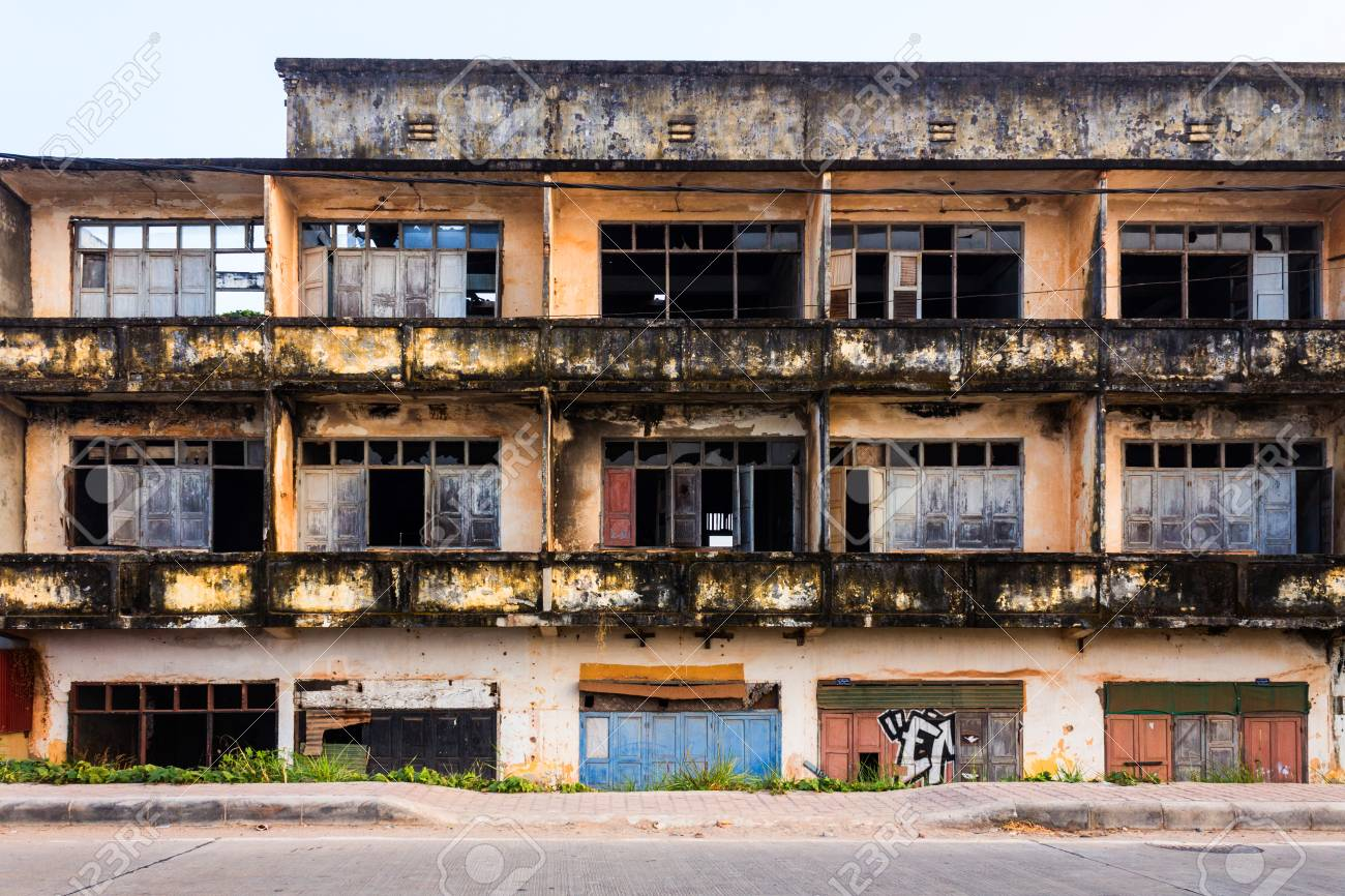 Colonial Ruin In Vientiane Laos Stock Photo Picture And Royalty
