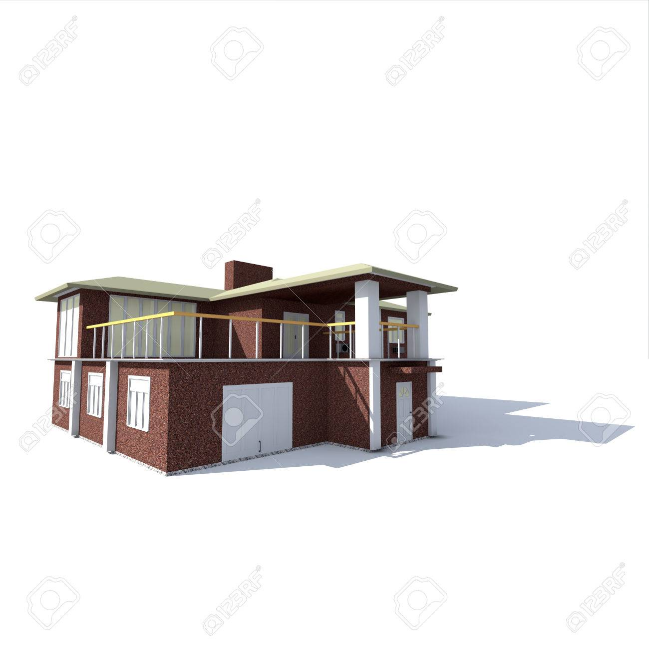 The Two Storey House Made Of Natural Stone With Balconies On Stock Photo Picture And Royalty Free Image Image 29124240