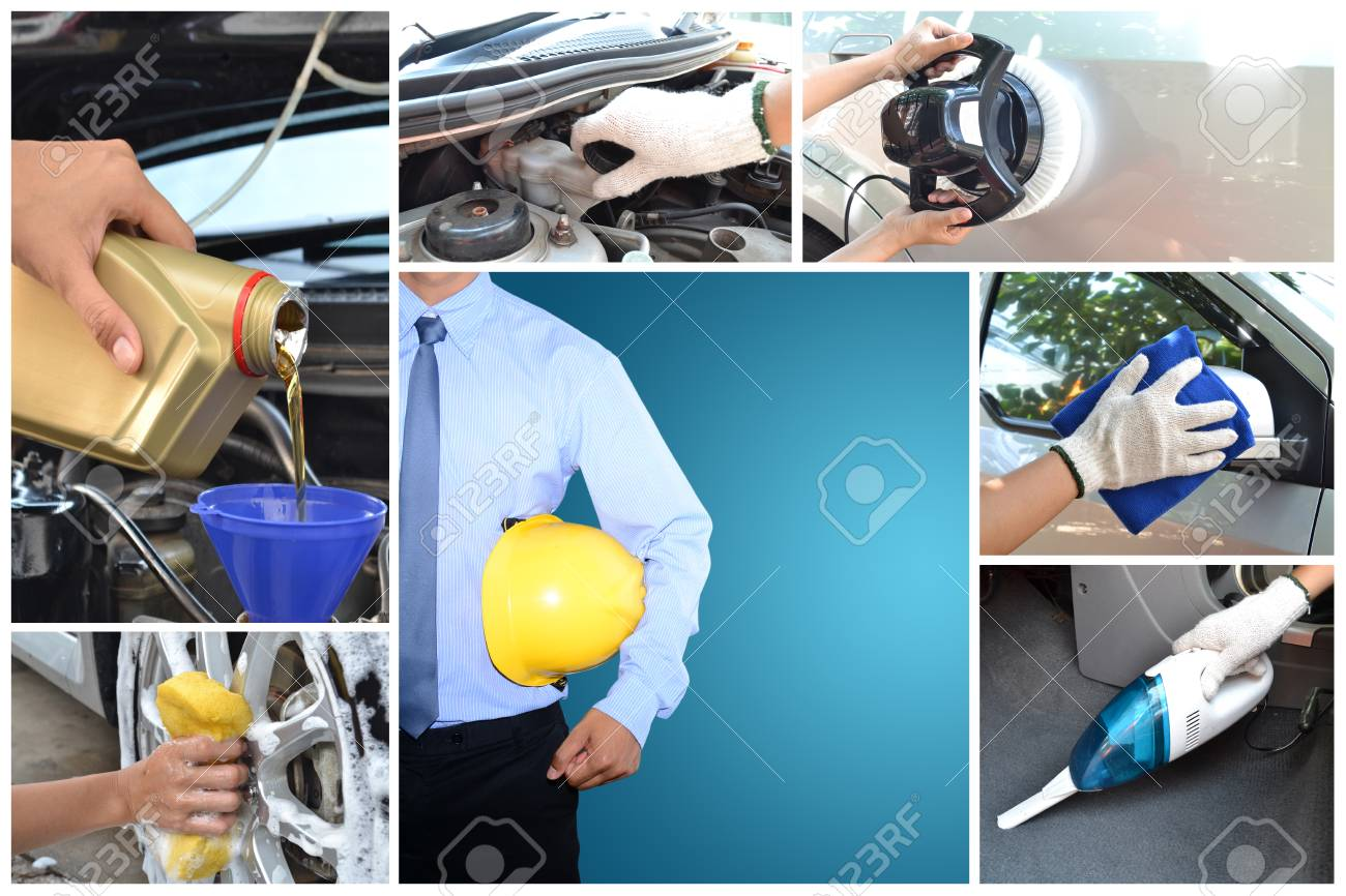 Maintaining a car controlled by engineers Stock Photo - 24662773
