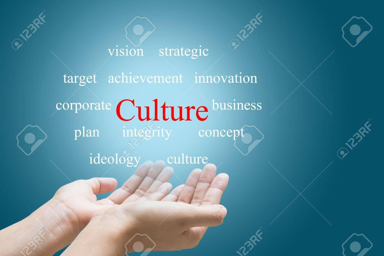 Businessman Hand Showing Culture Word - 27917876