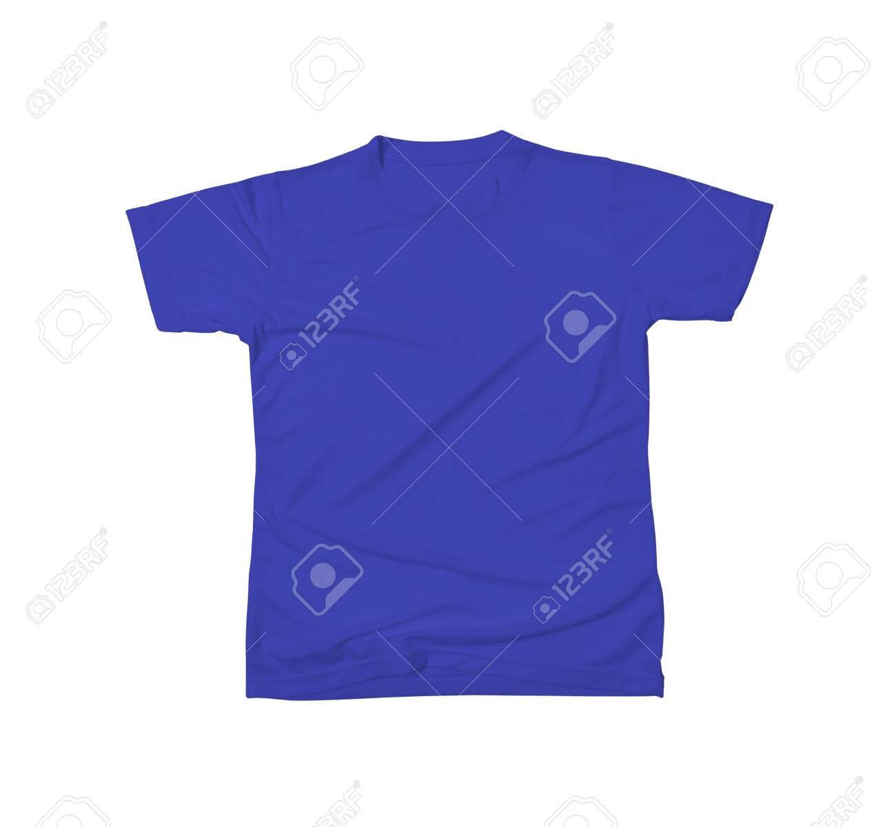 Designable Tshirt Mockup In Royal Blue Color To Help You Customize