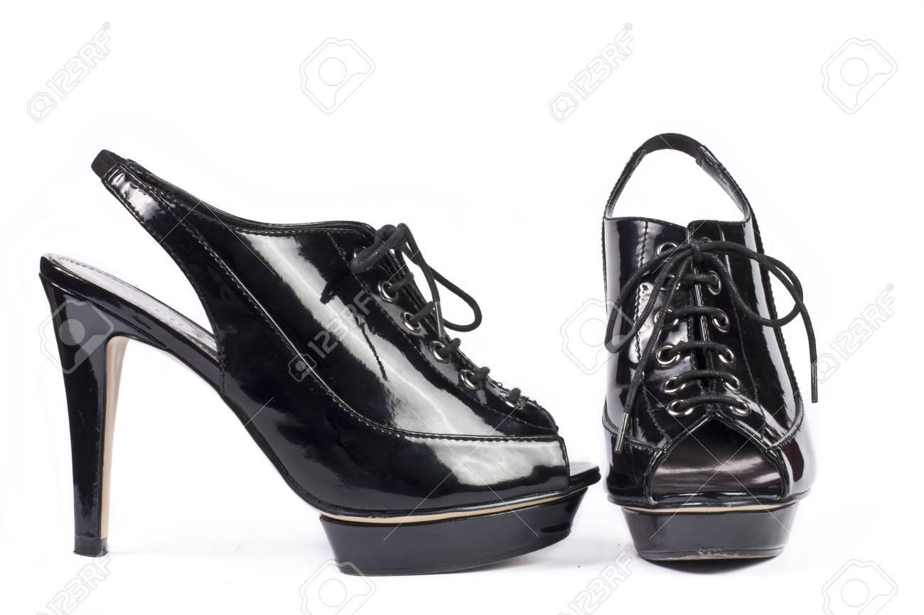 7eb918696d95 Elegant expensive high heel women shoes Studio shot Isolated on white  background Stock Photo - 13733932
