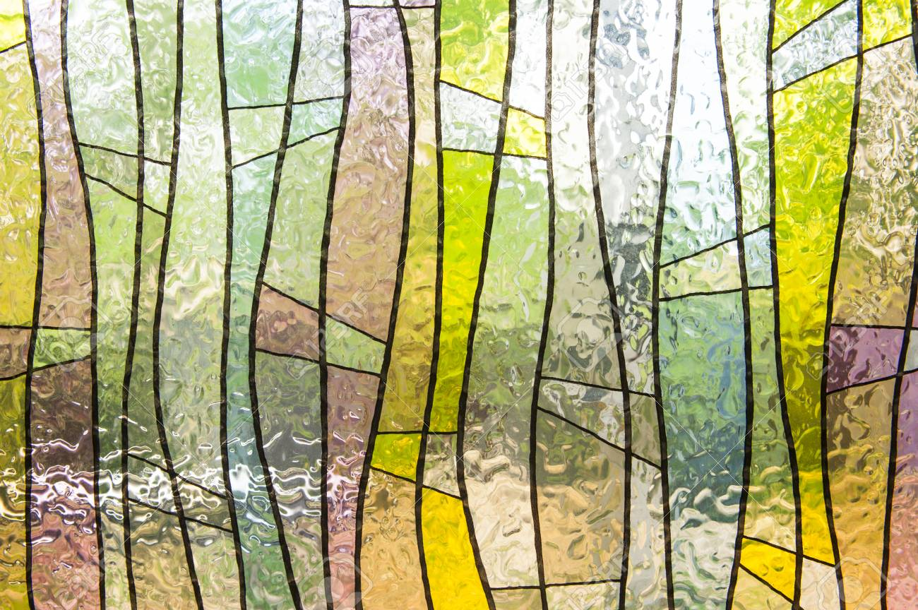 stained glass window of colored glass stock photo 28762527 - Colored Glass