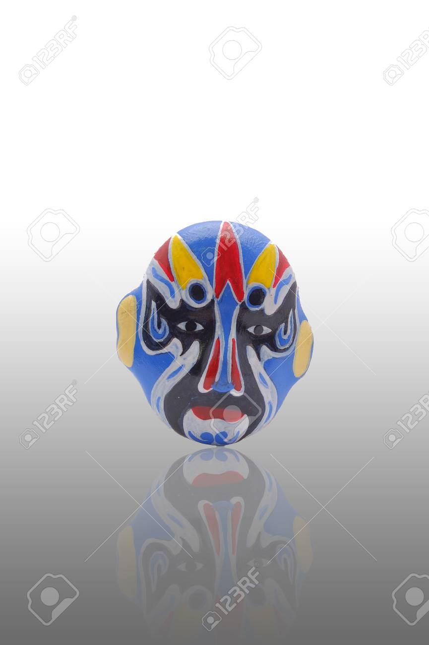 The blue mask with reflect on gradient background Stock Photo - 15778184