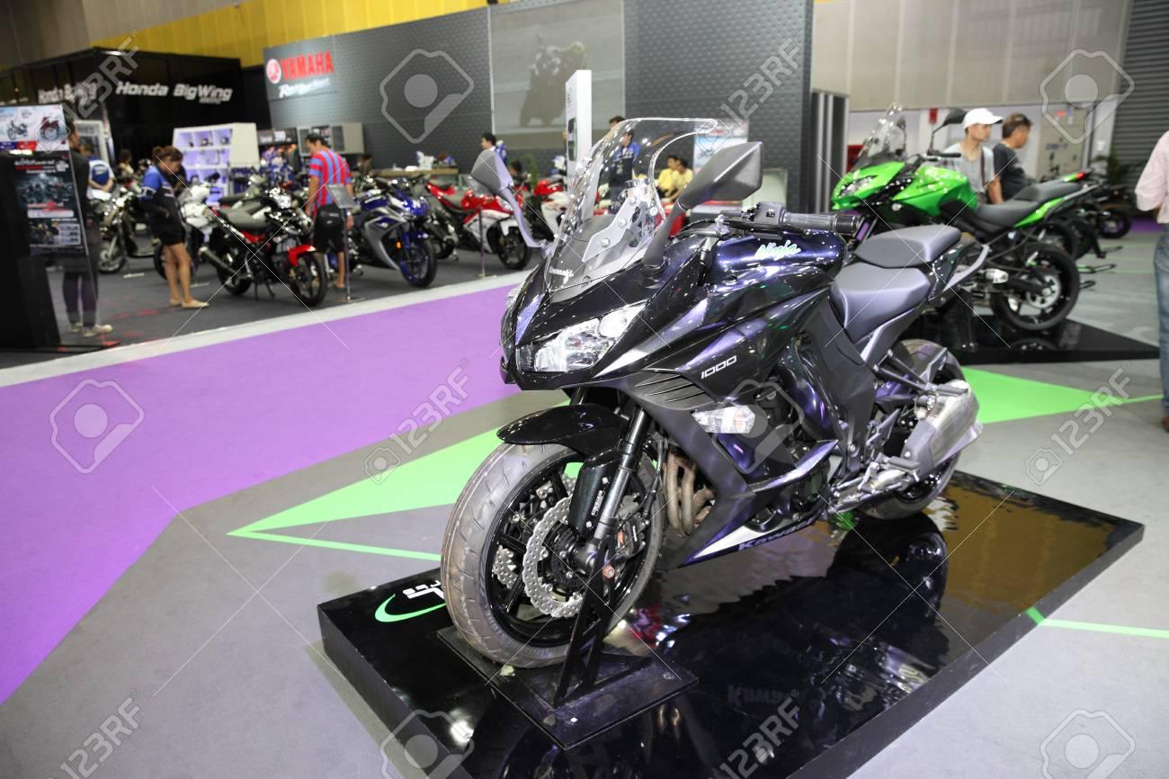 Bangkok August 4 Kawasaki Ninja 1000 Motorcycle On Display Stock Photo Picture And Royalty Free Image Image 43752407