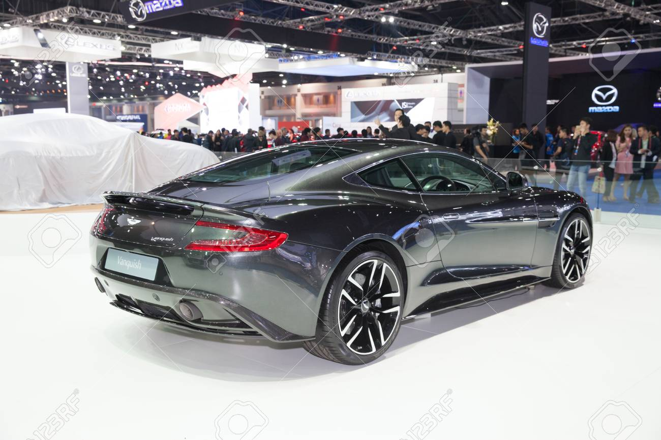 Bangkok March 22 Back Of Aston Martin Vanquish Car On Display Stock Photo Picture And Royalty Free Image Image 55693968