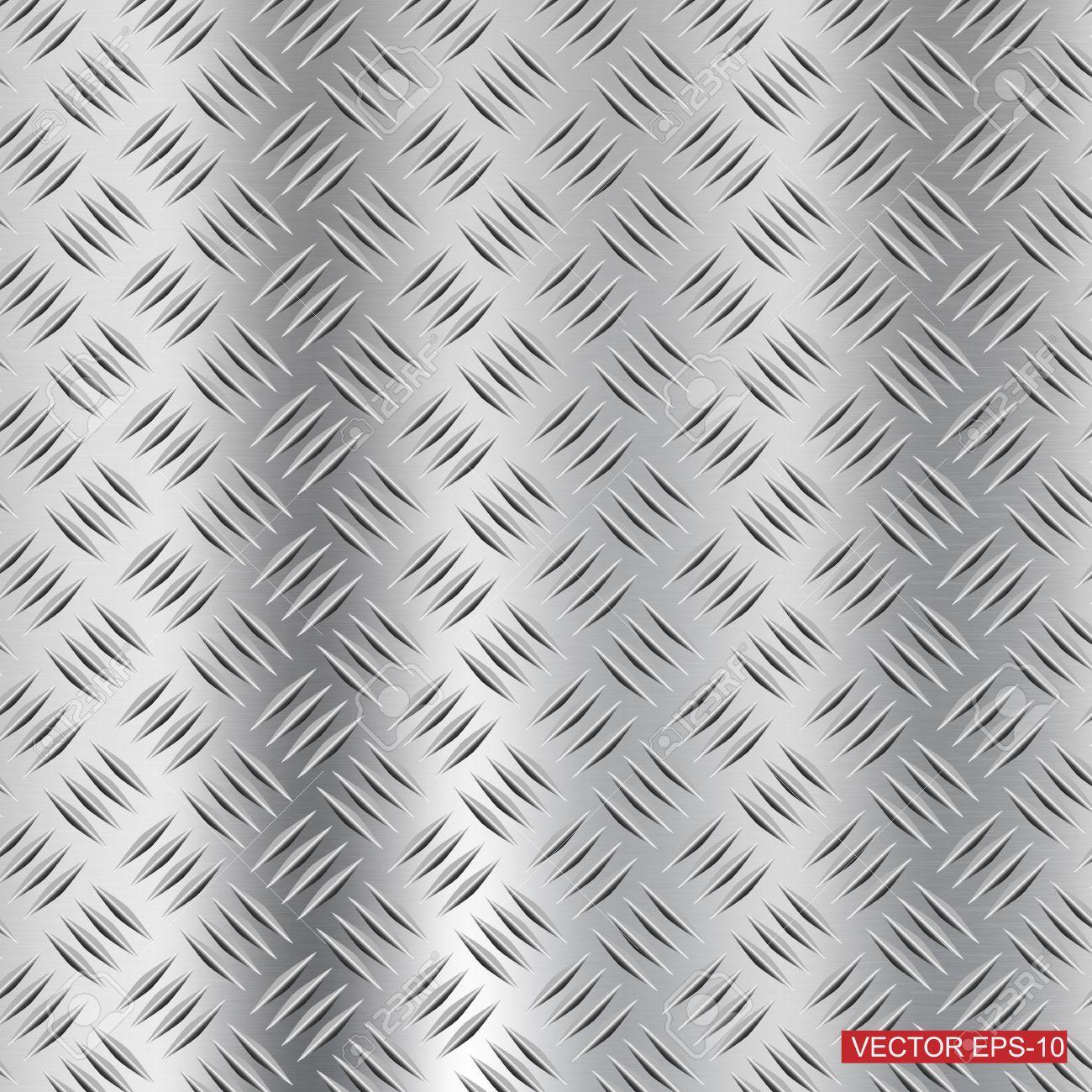 steel diamond plate texture background stock vector