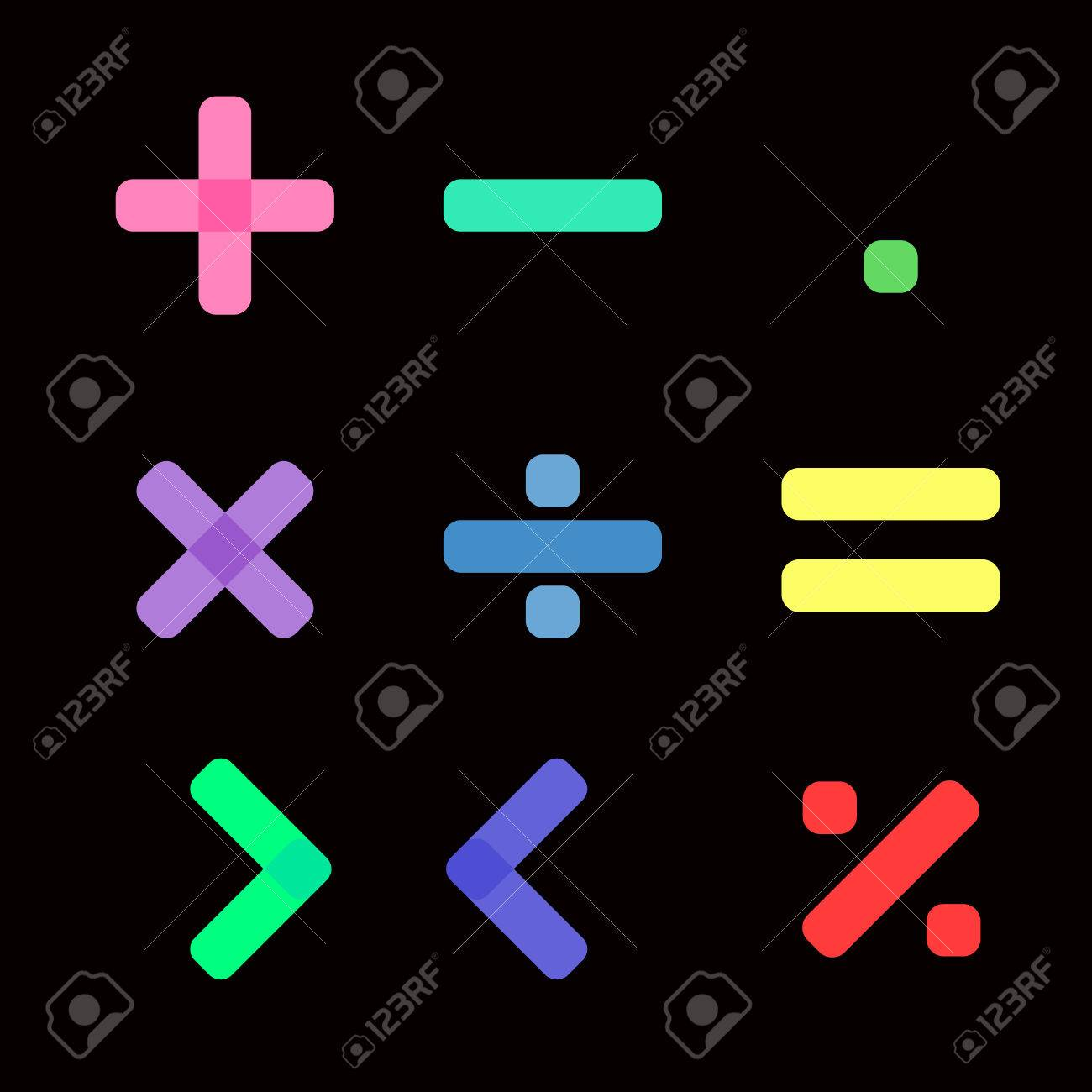 Math symbol in black background royalty free cliparts vectors math symbol in black background stock vector 53535122 biocorpaavc Gallery