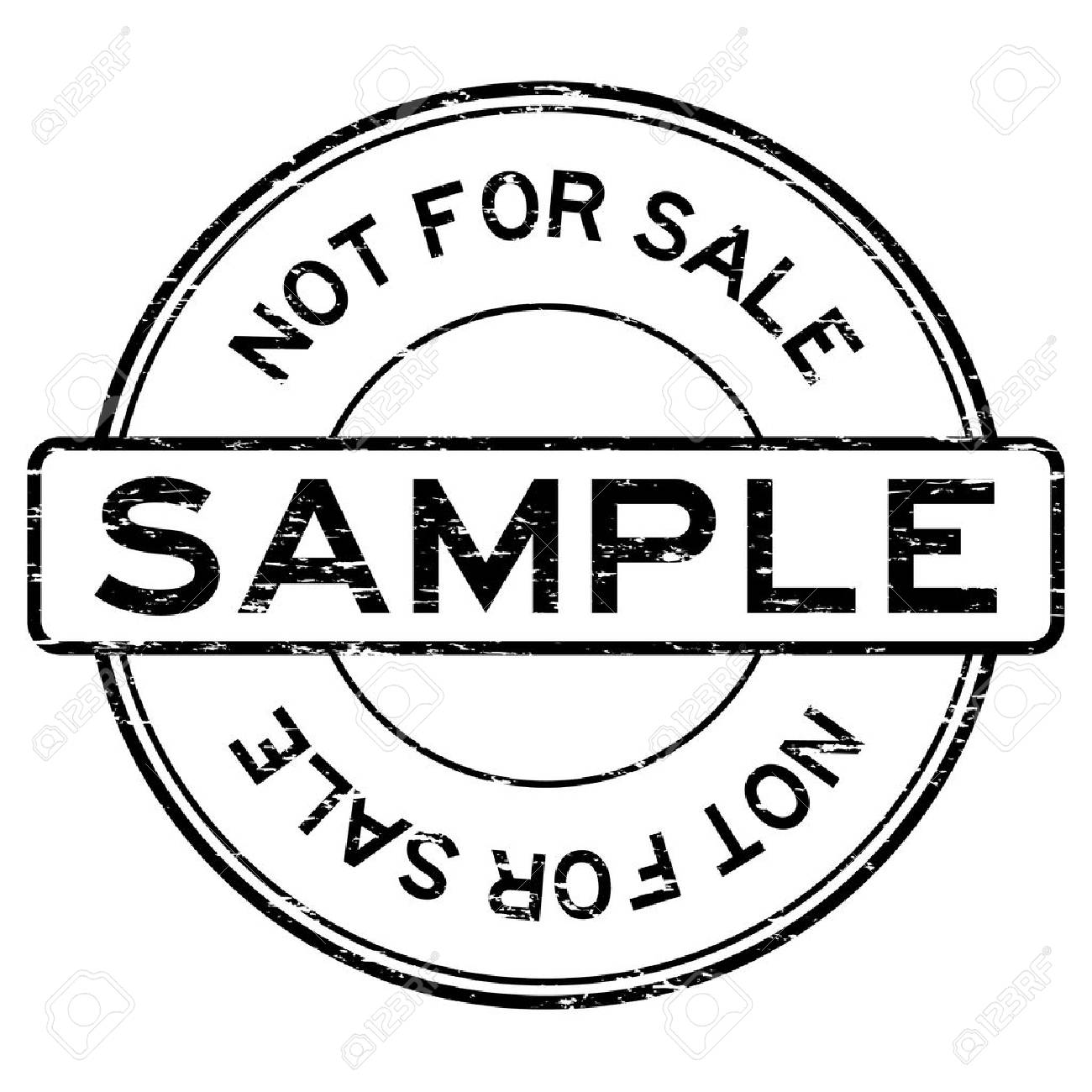 Sample rubber stamp vector illustration isolated stock vector.