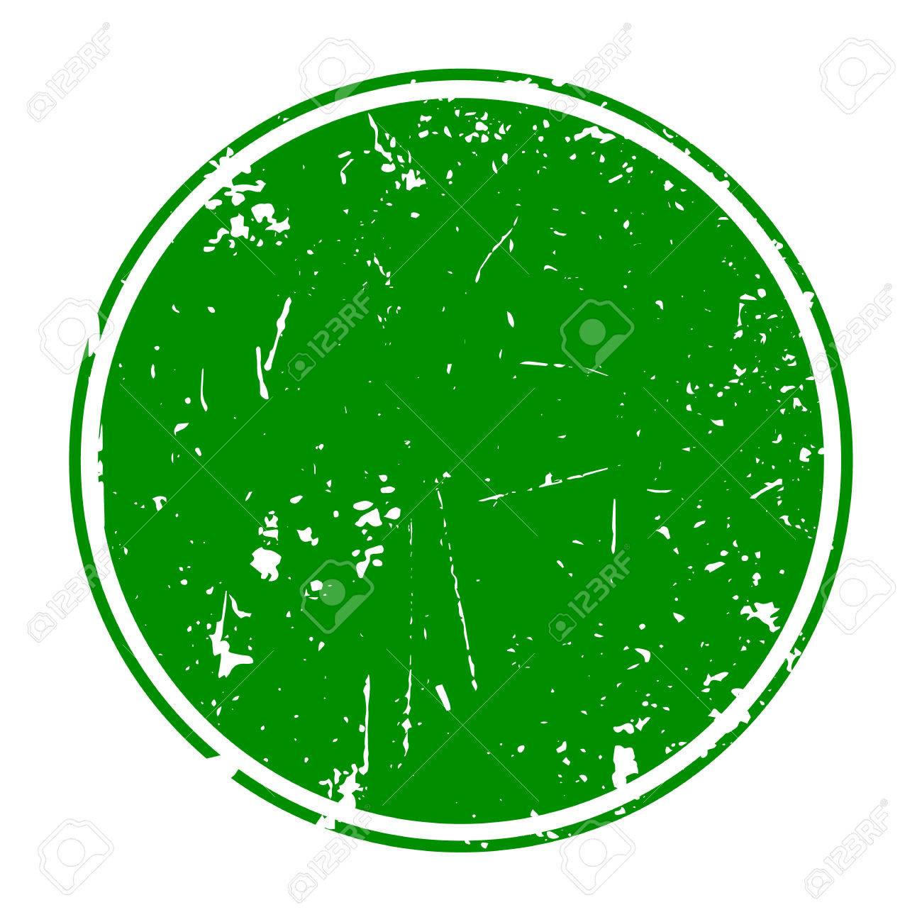 grunge green blank rubber stamp template royalty free cliparts