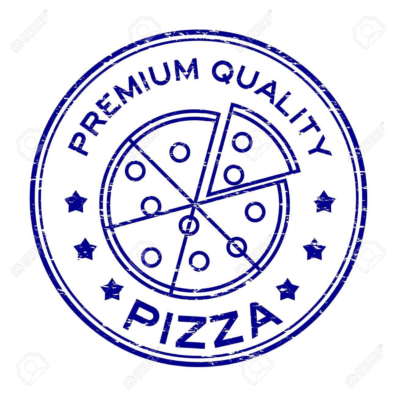 Pizza Slice Rubber Stamp