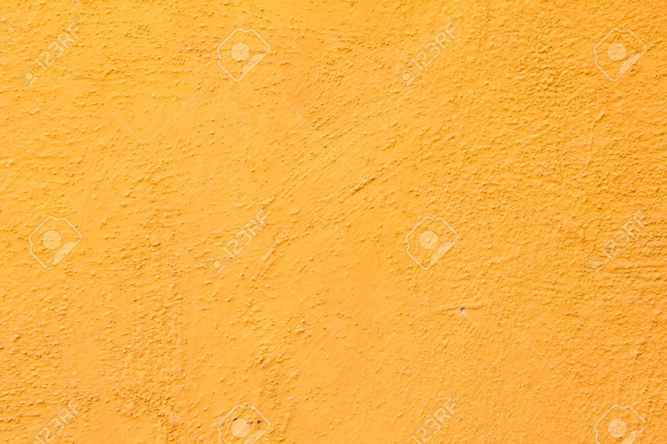Orange Color Concrete Wall Background Stock Photo, Picture And ...