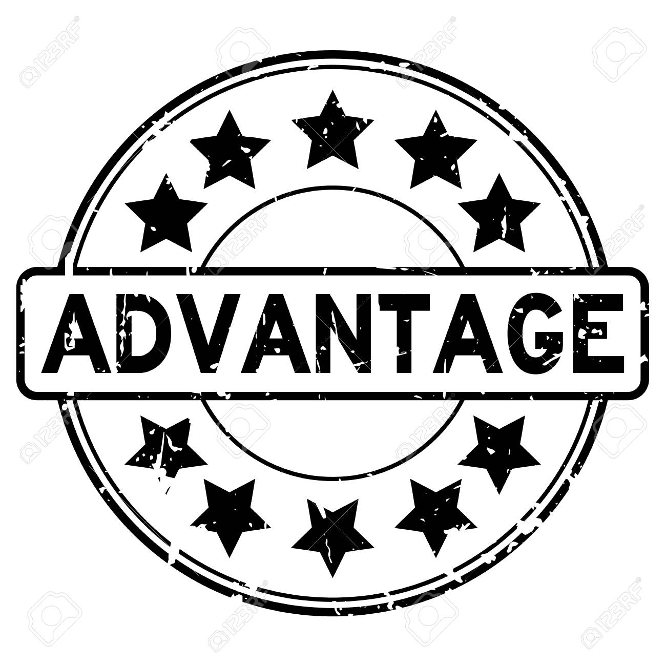 grunge black advantage with star icon round rubber seal stamp royalty free cliparts vectors and stock illustration image 85502618 grunge black advantage with star icon round rubber seal stamp