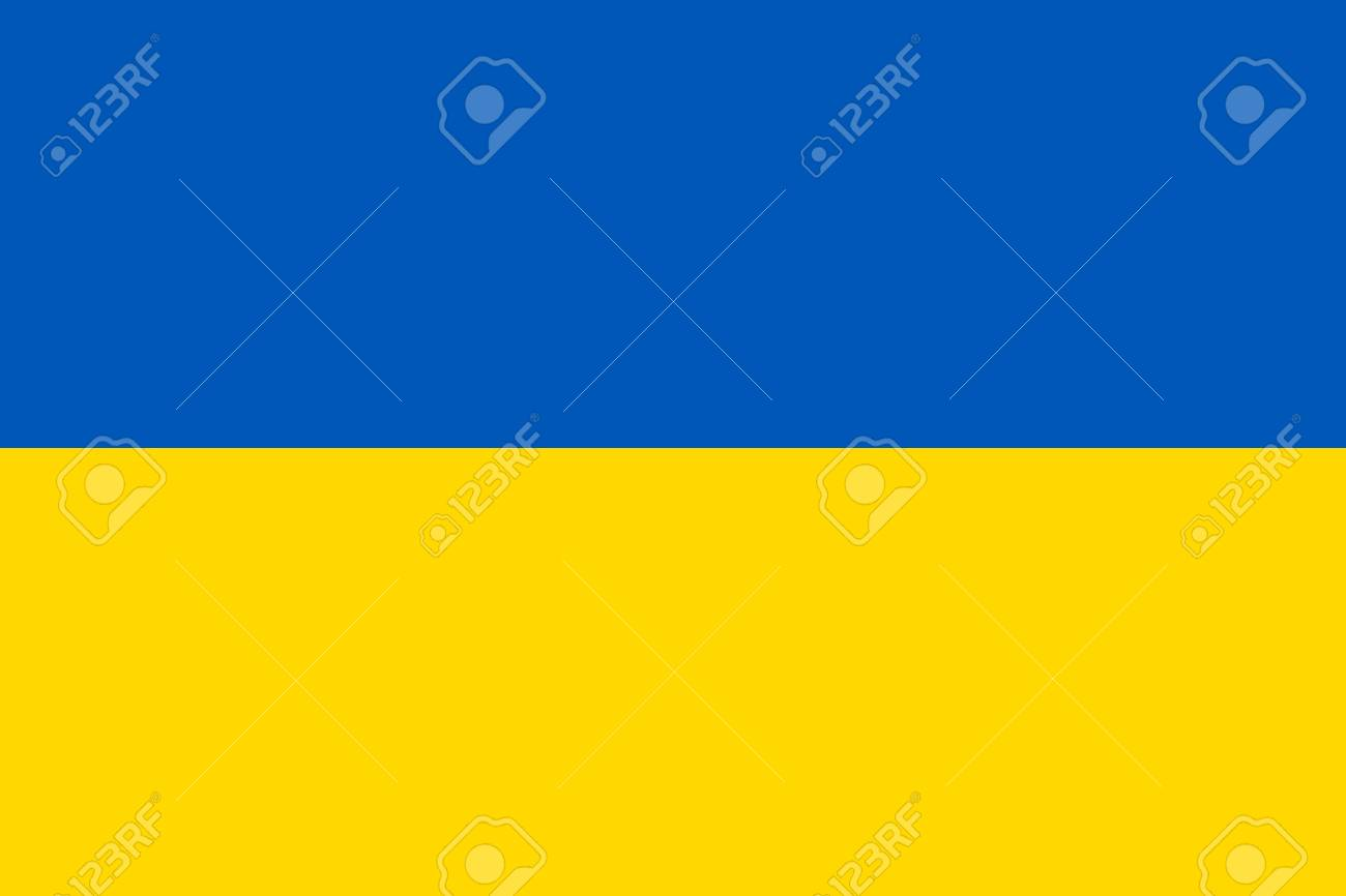 National flag of country Ukraine (blue, yellow color) - 117312502