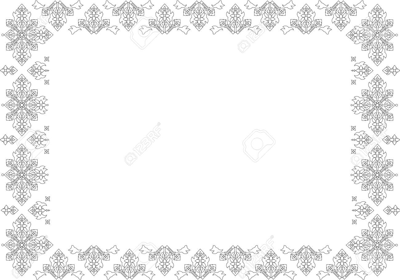 Thai basic ornament can be apply for tattoo ,pattern or background Stock Vector - 15770656