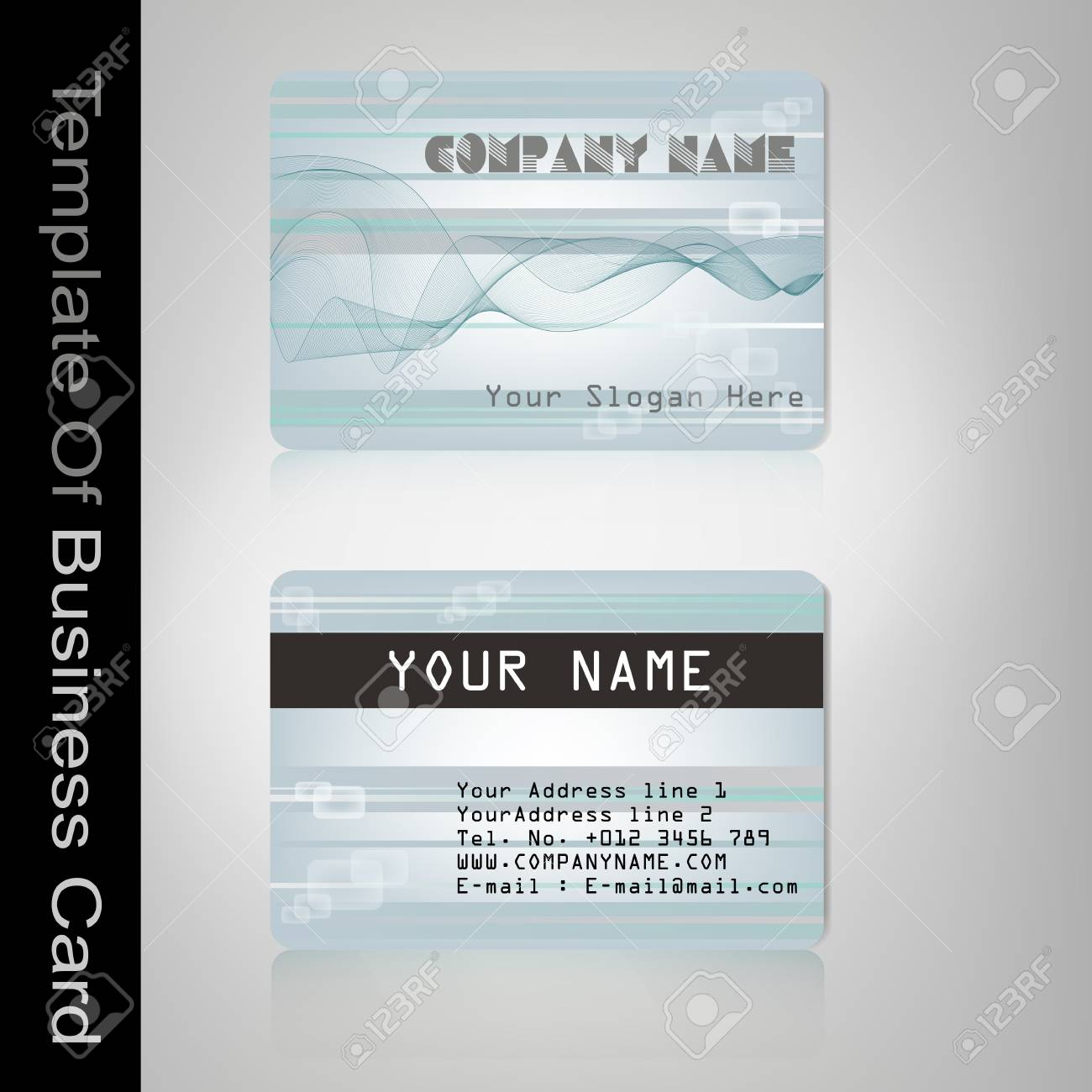 The template design of business card Stock Vector - 21358713