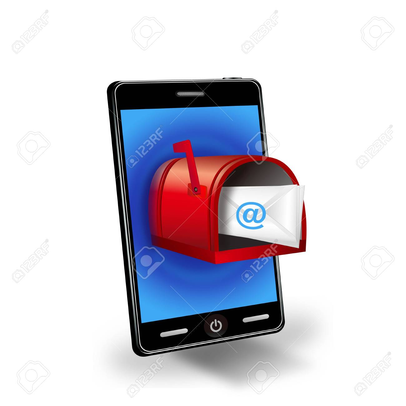 Illustration of a smartphone with a mailbox Stock Vector - 12270227
