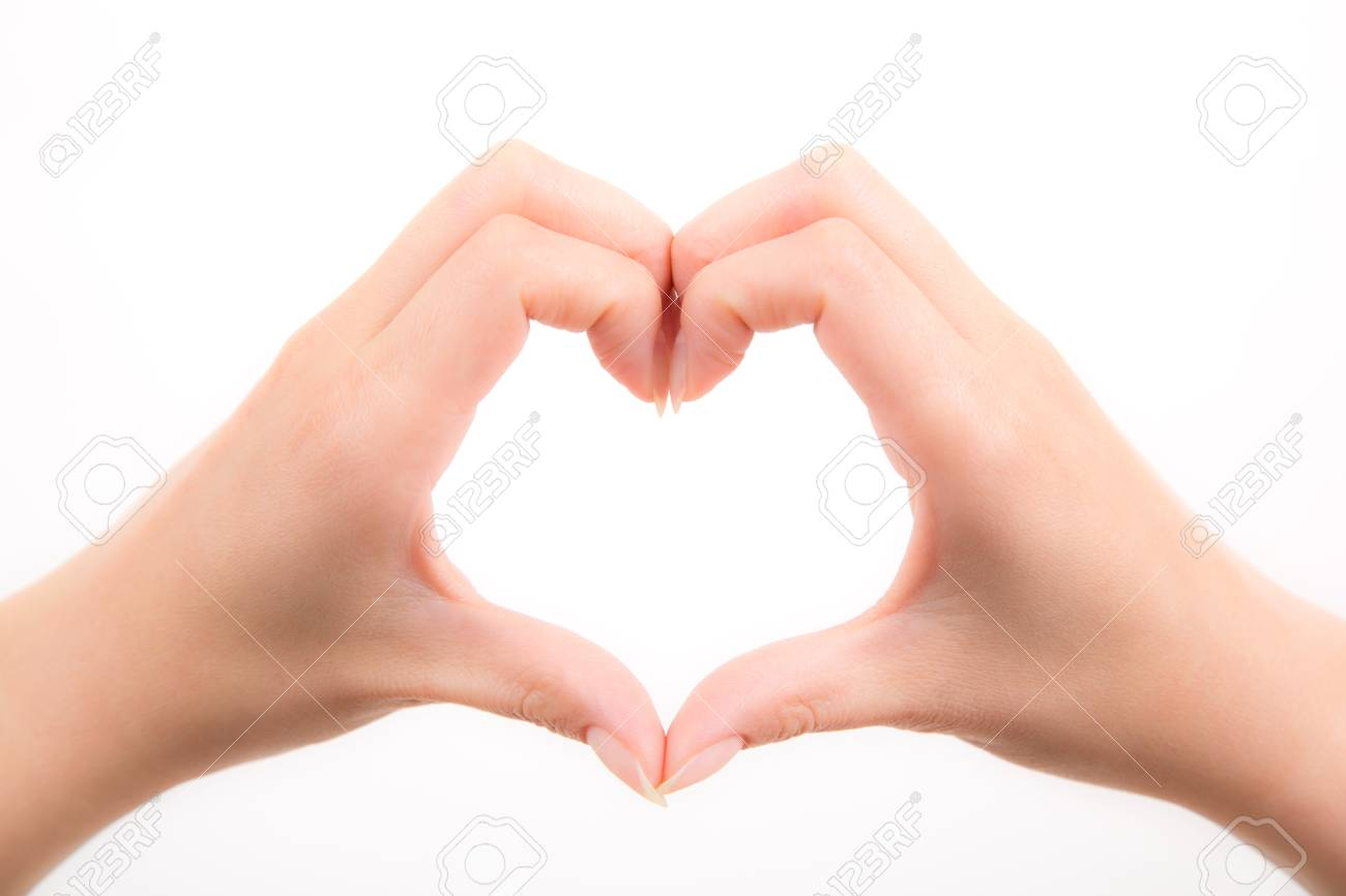 love shape with hand Stock Photo - 17740163