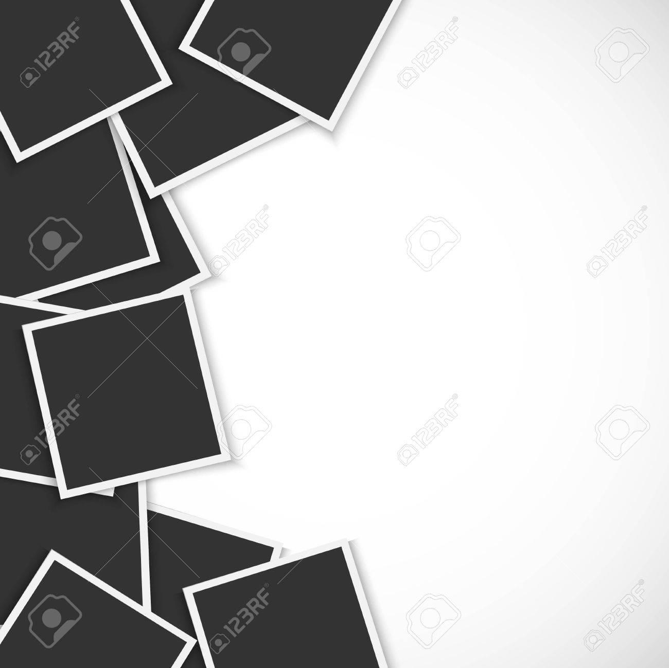 Pile of photo frames on white background - 51679168