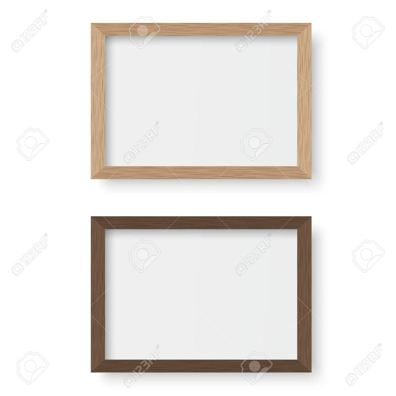 Vector wooden picture frame - 55049264