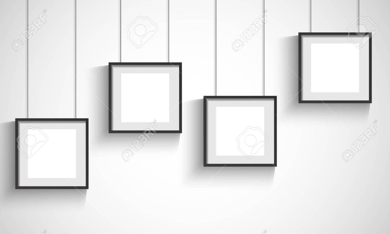 Vector 3d Blank Black Hanging Frames Royalty Free Cliparts, Vectors ...
