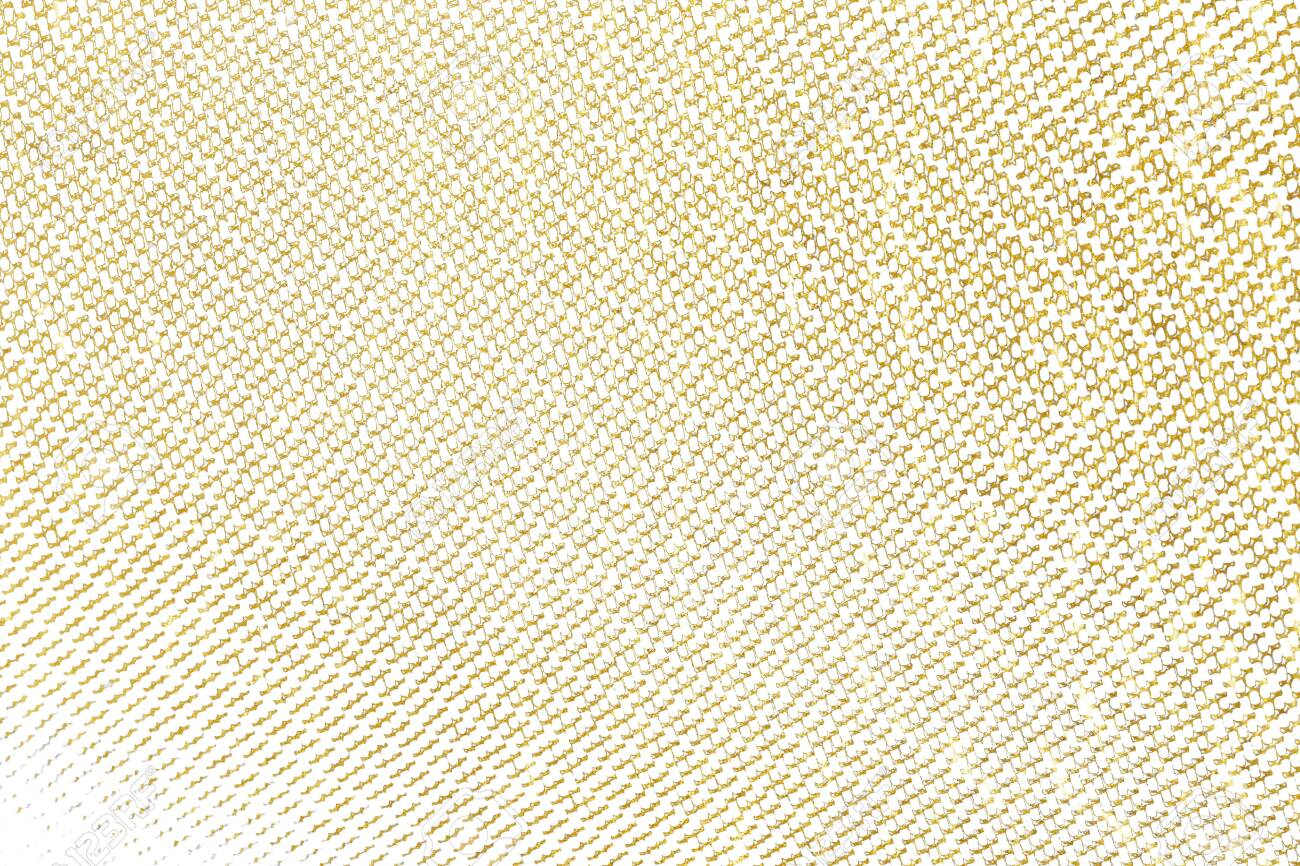 Gold brush stroke design element cloth knitted. Golden texture pattern of weaving fabric background. - 123041894