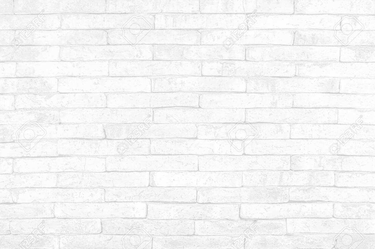 Modern white brick wall texture background for wallpaper and graphic web design. - 147082532