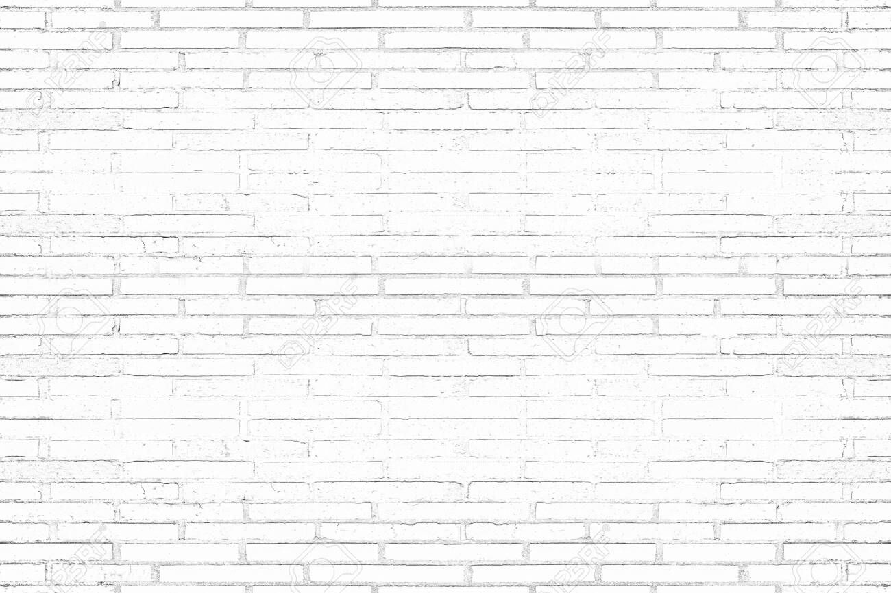 Modern white brick wall texture background for wallpaper and graphic web design. - 147081326