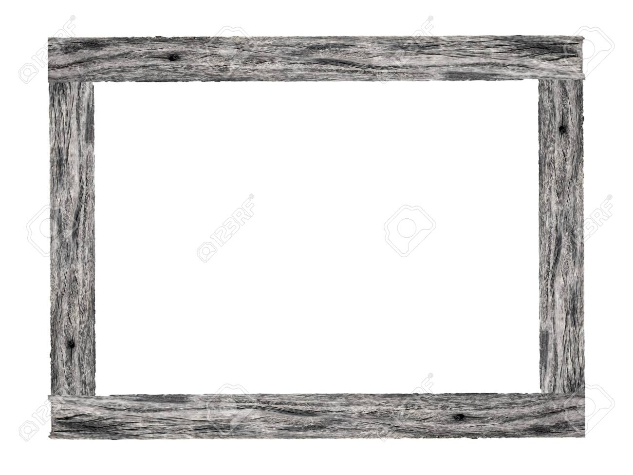 Wooden picture frame isolated on white background. - 147647432
