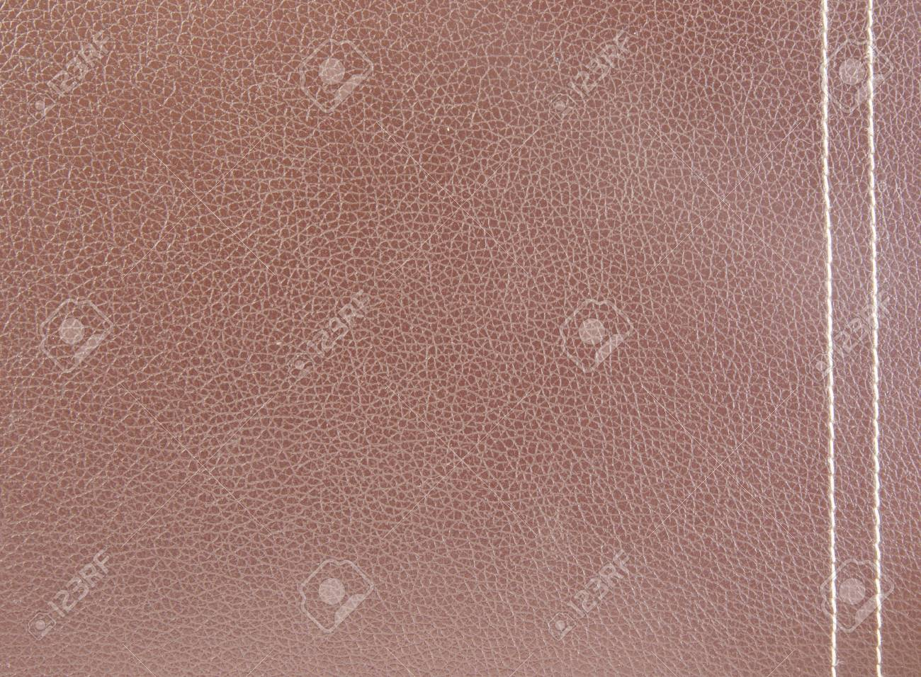 Brown leather with white line use as background Stock Photo - 17473516