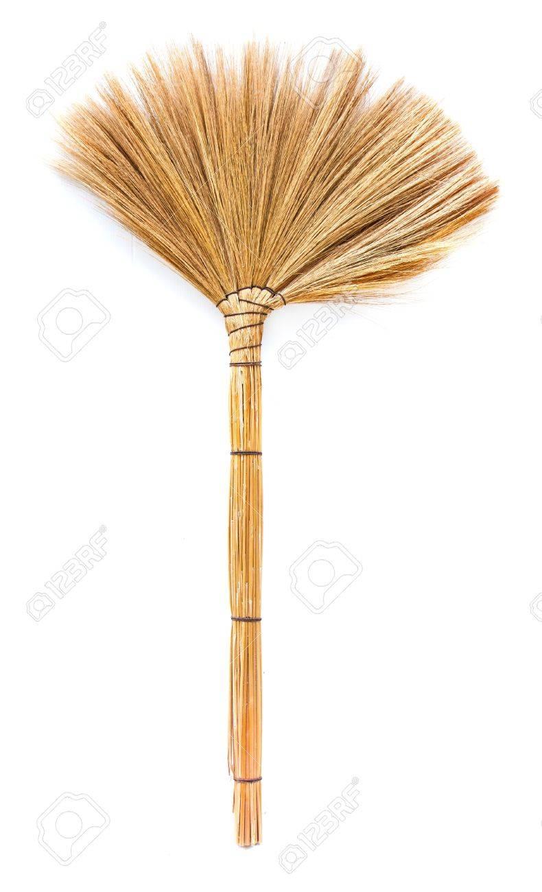 Une herbe balai pour nettoyer la poussière du sol