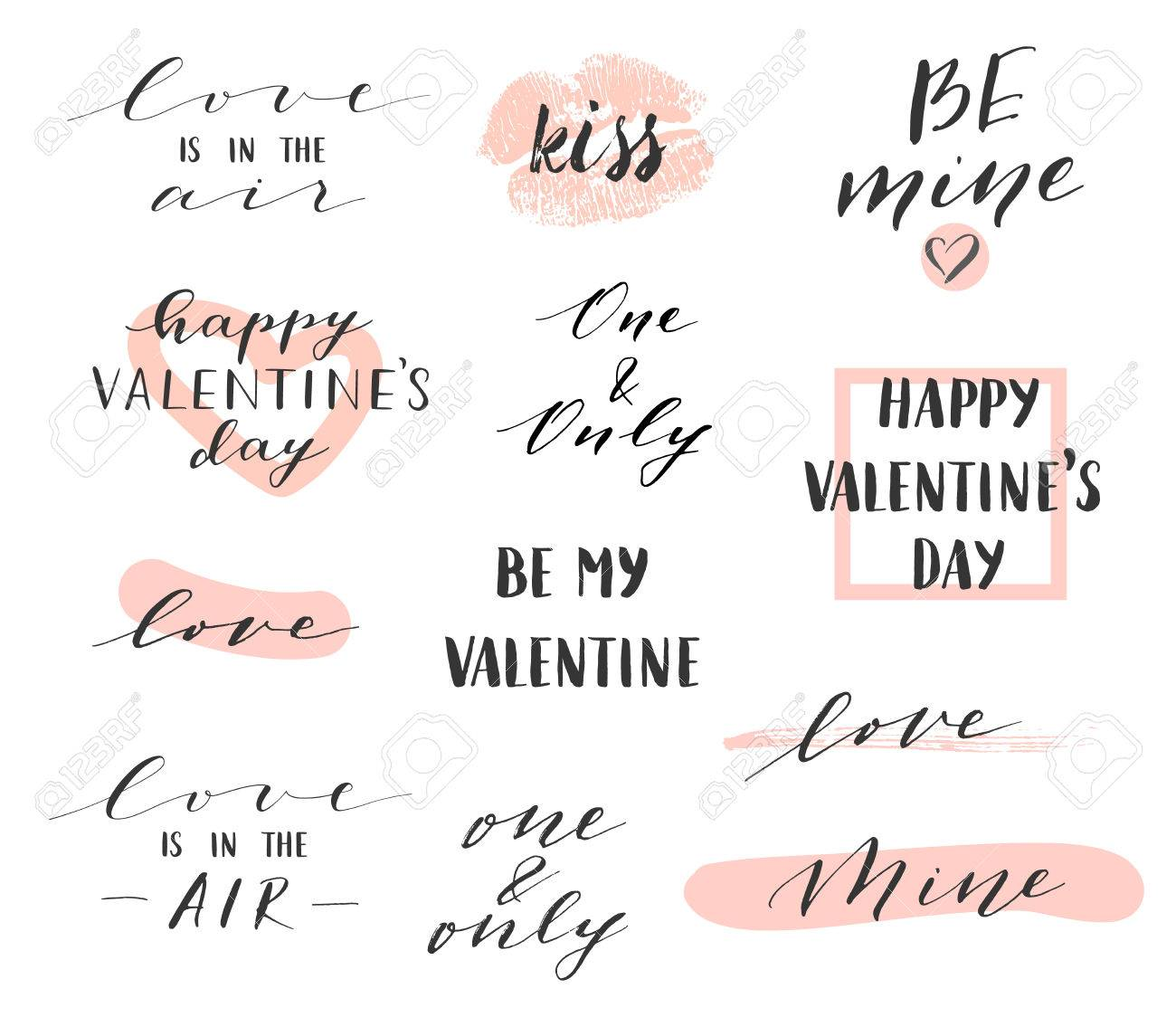 Vector modern hand written overlays and phrases for love cards vector modern hand written overlays and phrases for love cards posters for valentines day or kristyandbryce Images