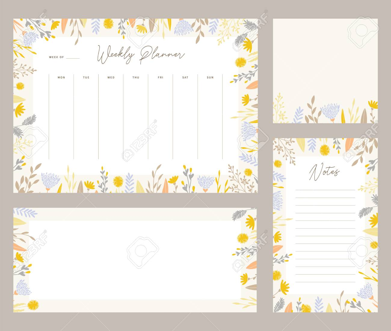 graphic relating to Weekly Planner Sheet called Lovely weekly planner templates with an sophisticated floral pastel tone..