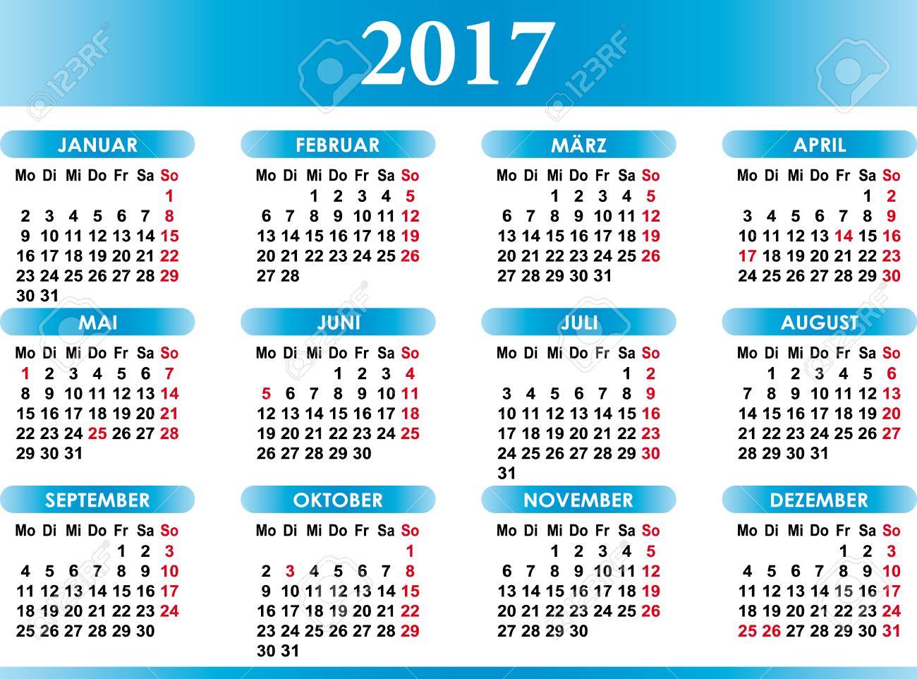 Deutsch Kalender 2017 German