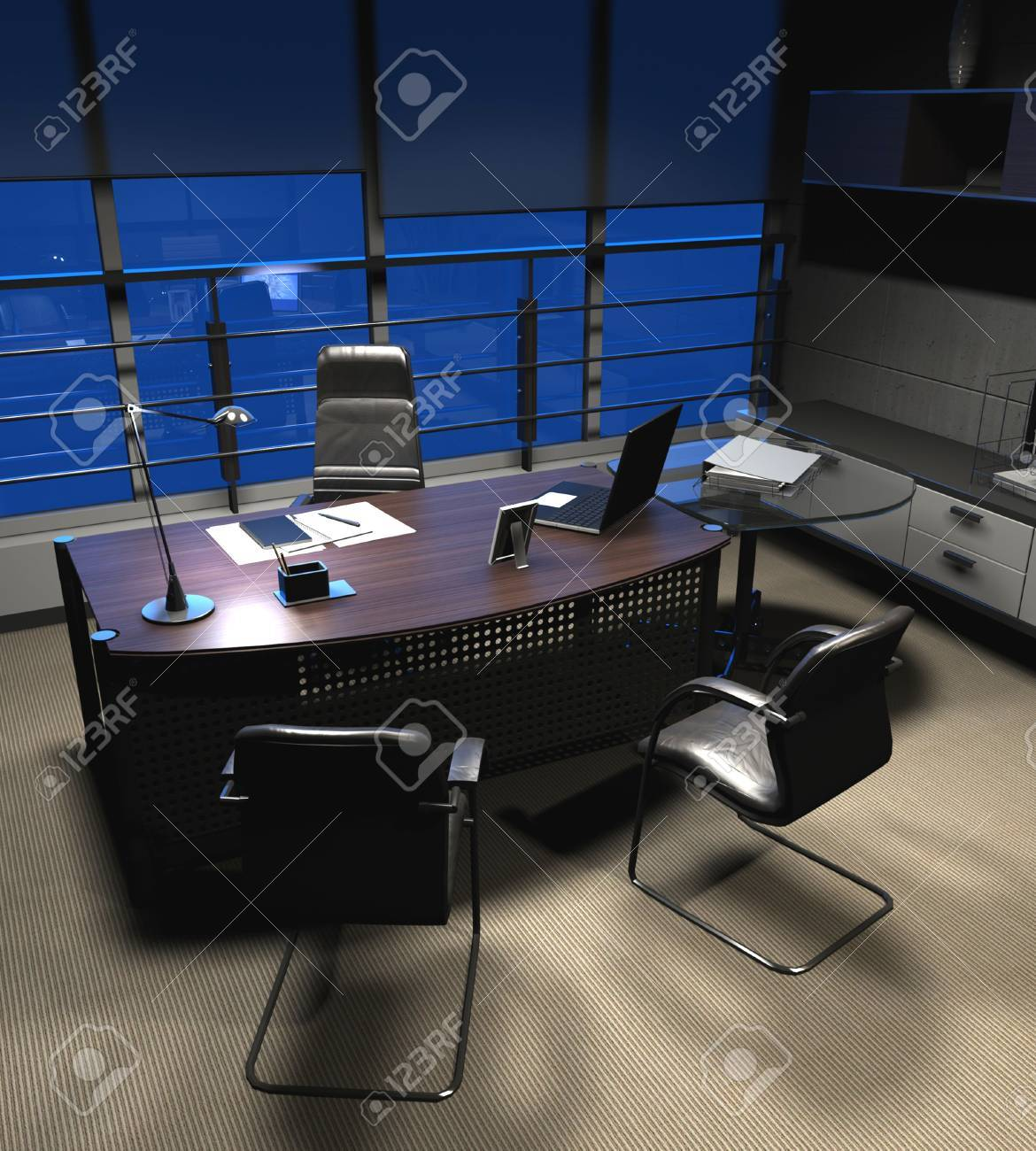 The modern office interior ( rendering) Stock Photo - 8960739