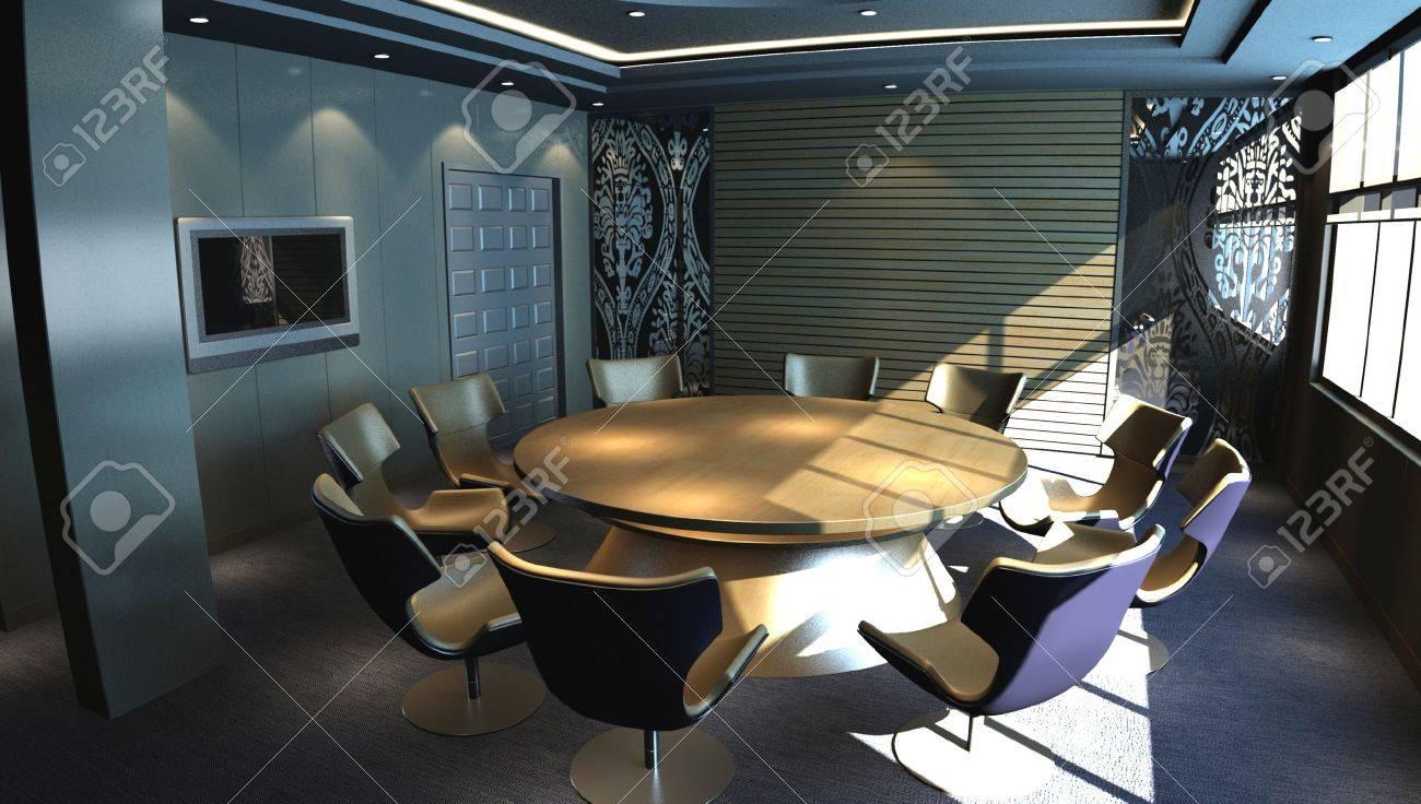 meeting room - rendering Stock Photo - 9821240