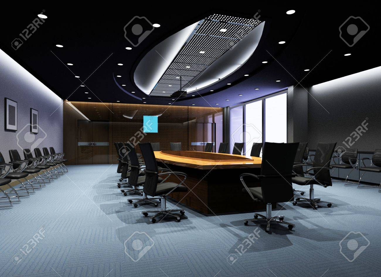 the computer generated 3d image of the modern conference hall Stock Photo - 9123173