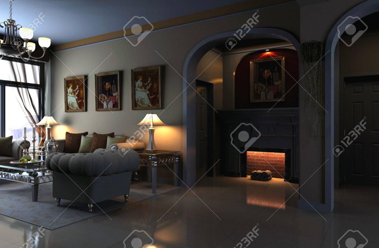 rendering living room Stock Photo - 9216451