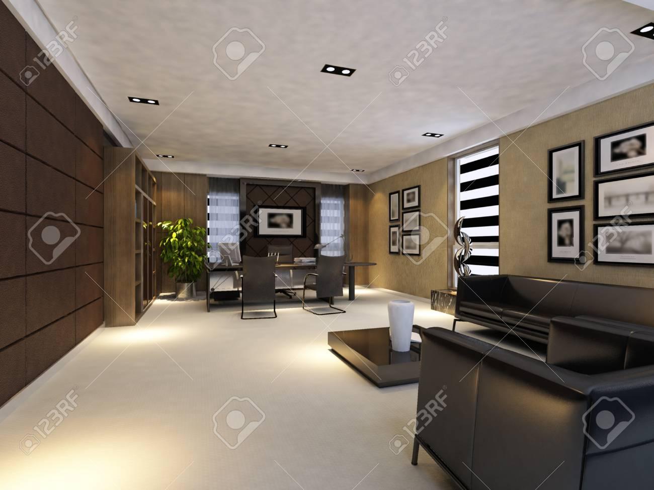 Interior fashionable living-room rendering Stock Photo - 9501451