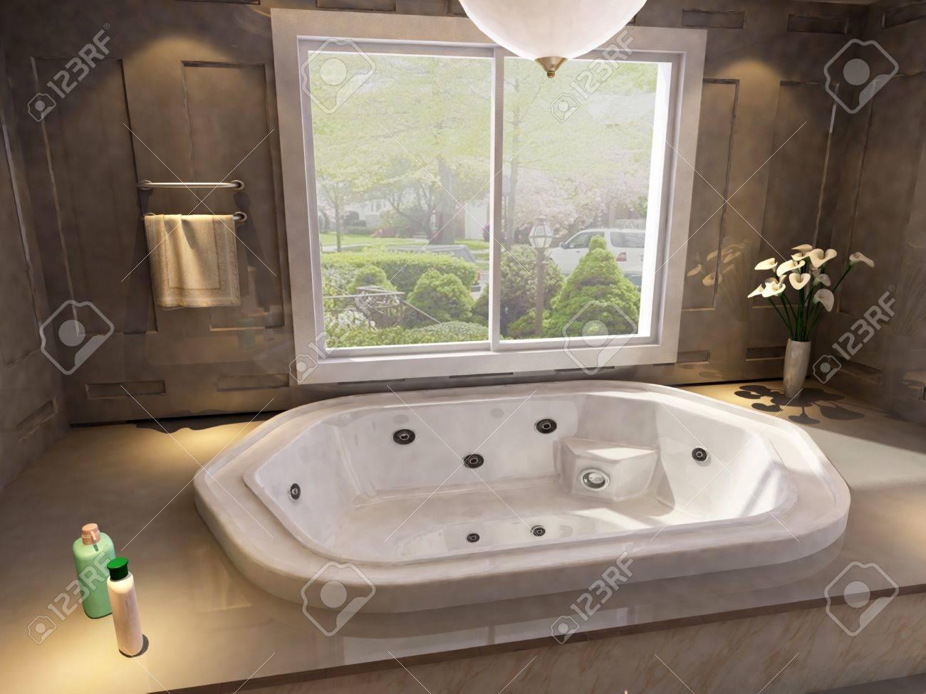 rendering of the modern bathroom interior Stock Photo - 9713070