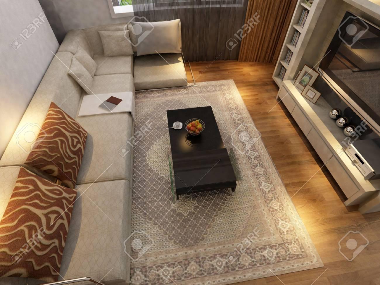 Modern design interior of living-room. render Stock Photo - 9713141