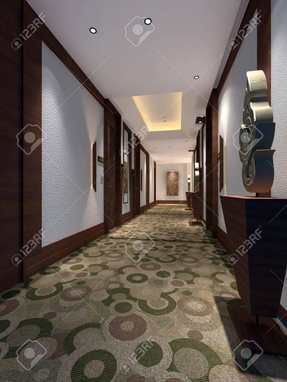 Interior fashionable living-room rendering Stock Photo - 9821246